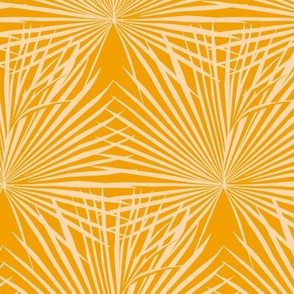 Palm leaves / yellow