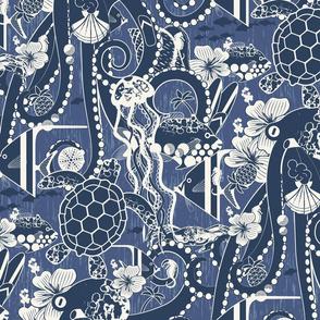 Tropical Hideaway - Denim Blue