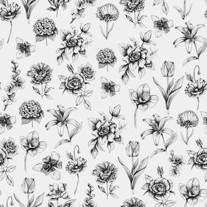 Botanic Ink flowers