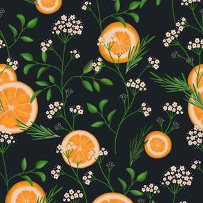 Elderflowers & Oranges - black