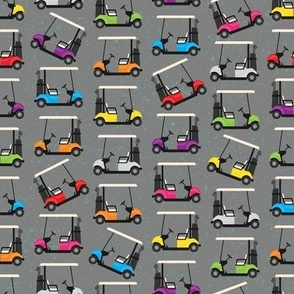 Golf Carts on Gray (small scale)
