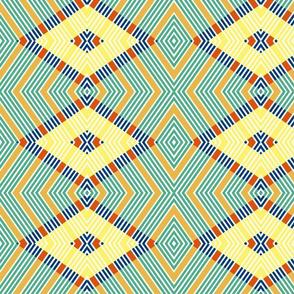 Multi Color Diamond Pattern