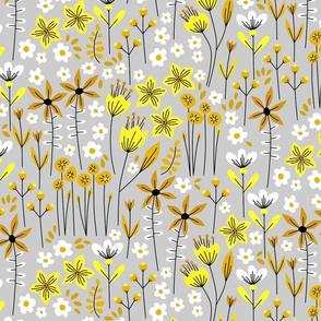 Monica (soft gray and yellow)