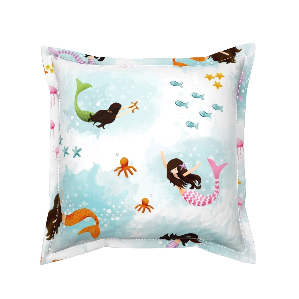 Serama Throw Pillow featuring Playing with Bubbles by natitys