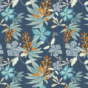 Hawaiian Flora Blue