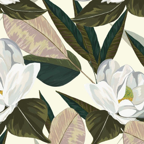 Magnolia (cream)- Large scale