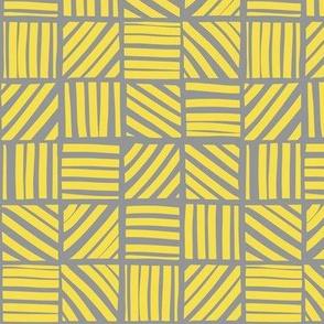 Block stripes - illuminating yellow and ultimate grey