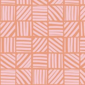 Block stripes - orange and pink