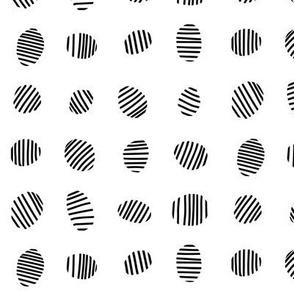 Egg stripes - black and white