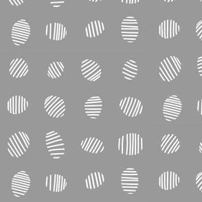 Egg stripes - grey