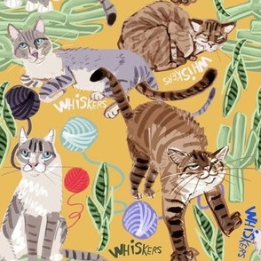 Cats Whiskers and Yarn Yellow