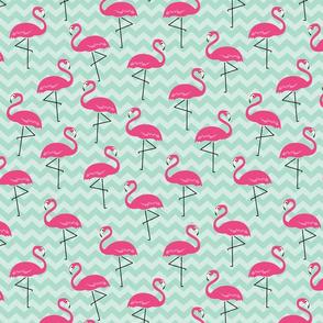 Flamingo Pink & Green - L
