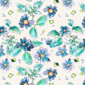 Spring Garden - Blue