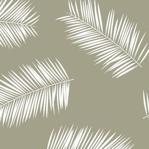 Aloha hawaii island vibes tropical palm leaves jungle olive eucalyptus green white