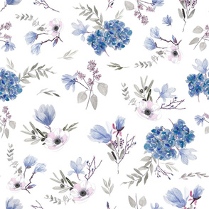 Floral Pattern - classic blue