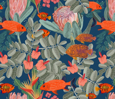 Tropical fish and native florals
