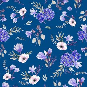 classic blue floral bouquet