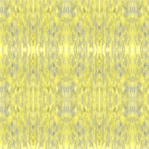 Hand-drawn watercolor pencil design in gray and yellow