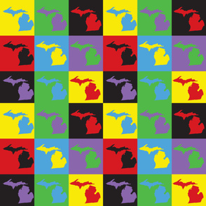 Michigan Retro Pop Art Pattern
