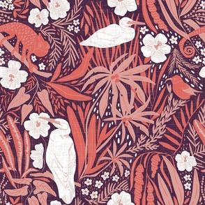 Large Scale - Hawaiian Dreams -  aubergine