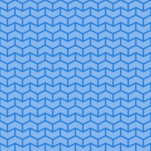 two-tone geometric pattern 5  in blues