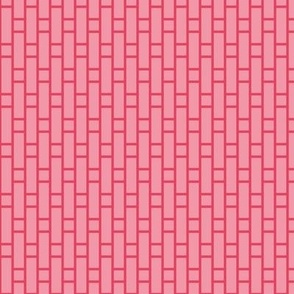 two-tone geometric pattern 6  in pink/red-orange