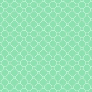 two-tone geometric pattern 8 in light greens