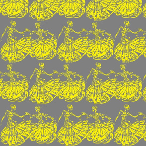 Dance In Yellow on Grey