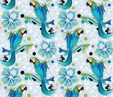 Surfing Parrot Paradise-SFCH2- Hidden Hawaiian-20210119-Pattern_Pie