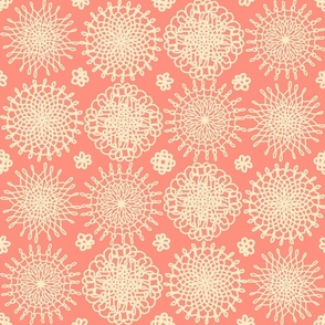 Not-your-granny's Doilies -Coral