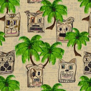 Hawiian Tiki Dogs