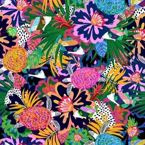 Hawaiian Tropical Turtle Floral