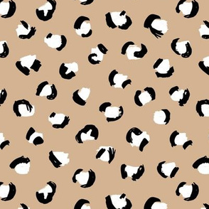 Trendy panther print animals fur modern Scandinavian style raw brush abstract color mix boys black and white neutral pastel sand beige