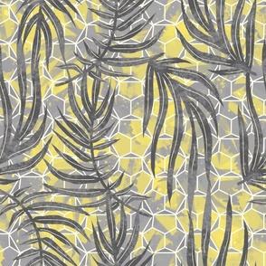 Hawaiian Geometry - Yellow and Grey