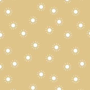 Little sunny day sunshine summer sky minimal abstract boho neutral nursery Scandinavian style golden ginger mustard yellow white