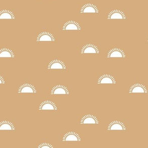 Little sunshine morning minimal trend abstract kids nursery design cinnamon beige latte white