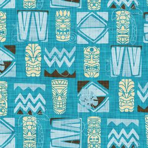Tiki - Aloha- Blue