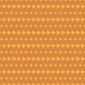 Orange and yellow fantasy leafs