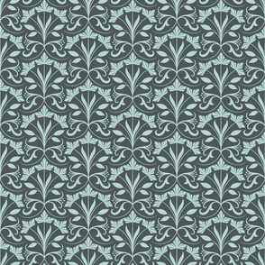 Abstract floral, green (small)