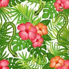 Hawaiian pattern with snakes