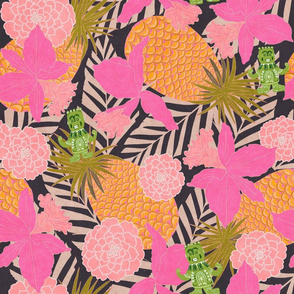 Pineapple Tiki Man, tablecloth size