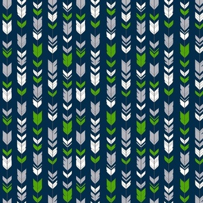 Small arrow feathers - Seahawks green, navy and grey