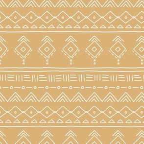 Minimal boho mudcloth bohemian ethnic abstract indian summer aztec design nursery mustard yellow gender neutral