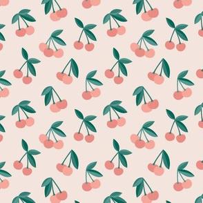 Little Cherry love garden for spring summer nursery design blush coral green