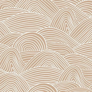 Ocean waves and surf vibes abstract salty water minimal Scandinavian style stripes ginger beige