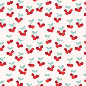 Little Cherry love garden for spring summer nursery design neutral creme red blue usa traditional flag colors cream blush red green