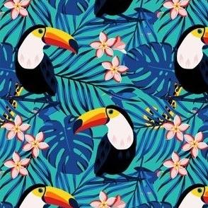 Toucans in Blue Jungle