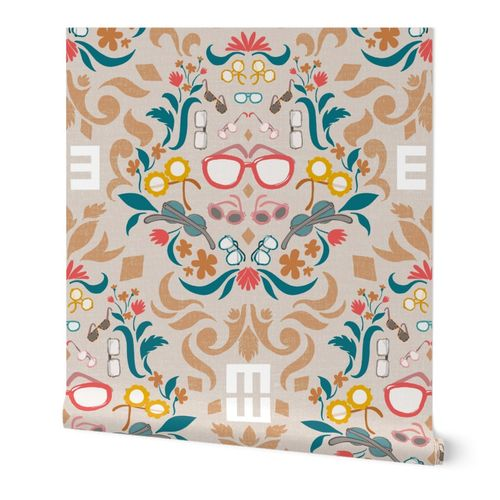 Can you see me now? eye glasses damask