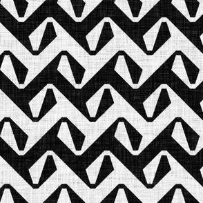 Serpentine - black & white - rotated
