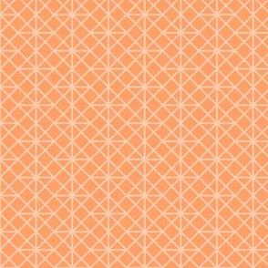 two-tone geometric pattern 9 in oranges